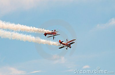 Breitling wing walking team Editorial Stock Photo