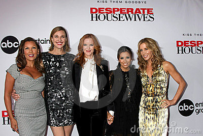 Brenda Strong, Eva Longoria, Marcia Cross, Vanessa L Williams, Felicity Huffman Editorial Stock Photo