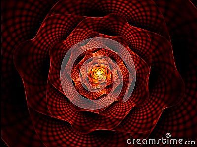 Brennende Blume, die rote Blume der Neigung