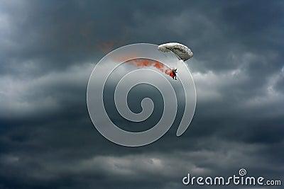 Brennender Fallschirm