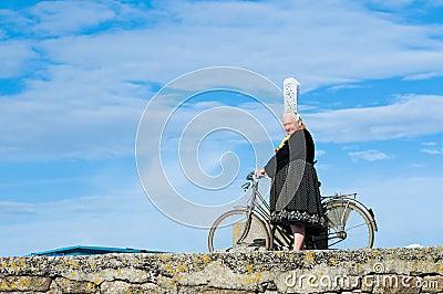 Breton women with headdress