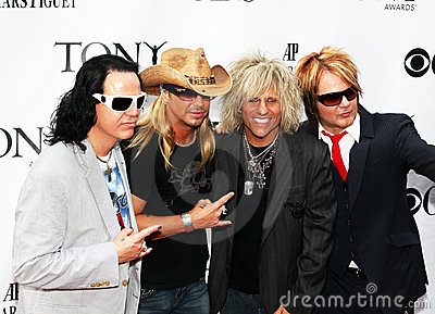 Brett Michaels and cast from  Editorial Stock Image