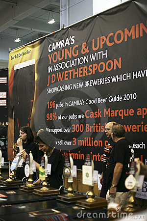 Brewers of The Great British Beer Festival Editorial Stock Image