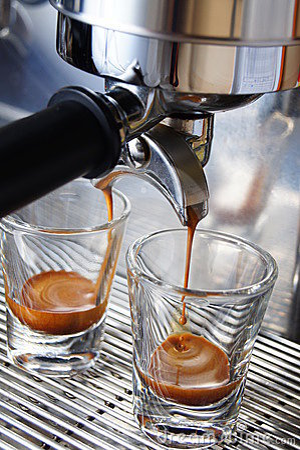 Brewing espresso