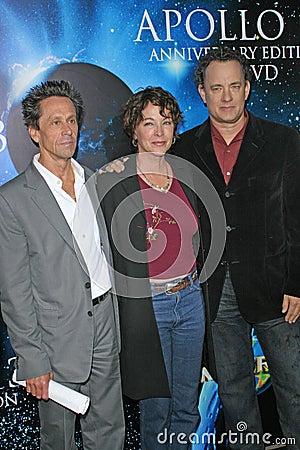 Brian Grazer,Kathleen Quinlan,Tom Hanks Editorial Photo