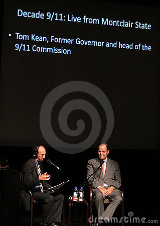 Brian Lehrer interviews Tom Kean Editorial Photography