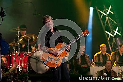 Brian Setzer Orchestra opens Montreal Jazz Festiva Editorial Stock Image