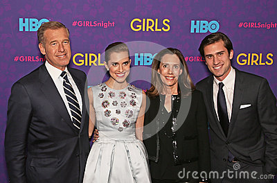 Brian Williams, Allison Williams, Jane Gillan Stoddard Williams, and Douglas Williams Editorial Image
