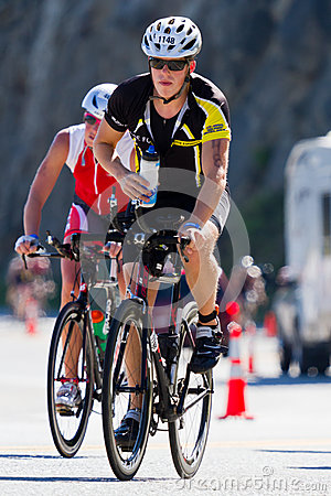 Free Brian Ziegler In The Coeur D  Alene Ironman Cycling Event Royalty Free Stock Photography - 31811817