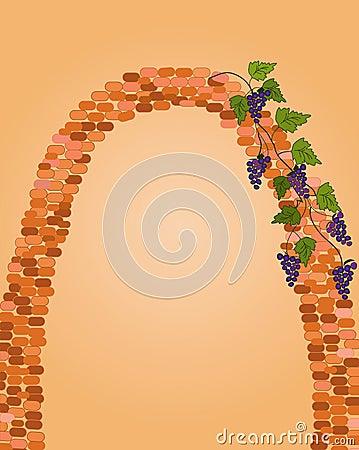 Brick arc with grape