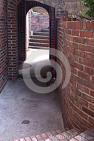Brick Archway With Steps