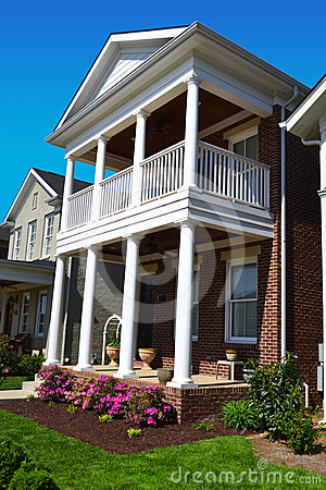 Free Brick Cape Cod Style Home With Porch Stock Image - 24324771