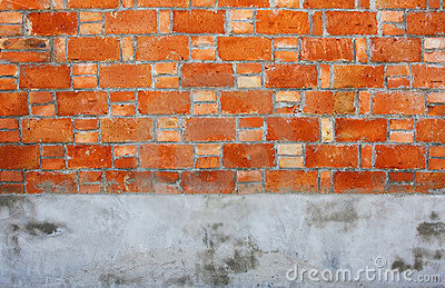 Brick Cement wall
