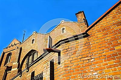 Brick church exterior