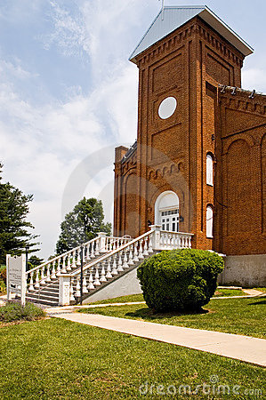 Brick Church Front Entrance