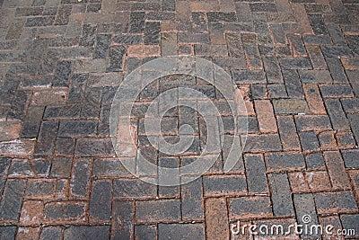 Brick cobblestone walkway