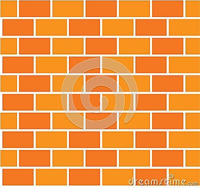 Brick color wall seamless