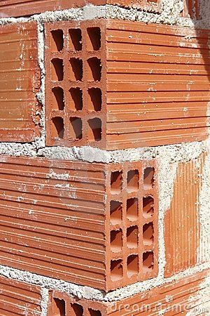 Free Brick Corner Edge Red Construction Clay Bricks Royalty Free Stock Images - 15354889