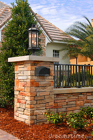 Brick Entrance Post