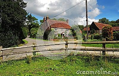 Brick and Flint English Farmhouse in the Hambleden Valley