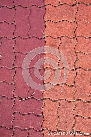Brick on ground