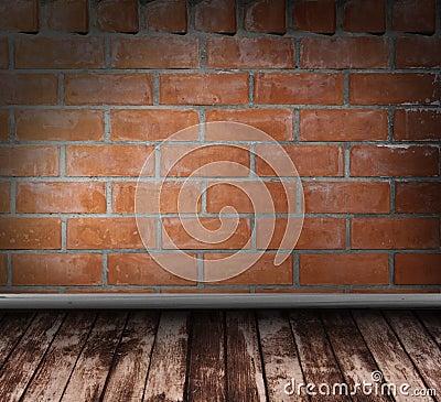Brick grunge interior