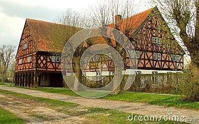Brick and half-timbered house