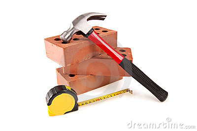 Brick , hammer And meter