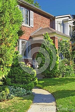 Brick house exterior