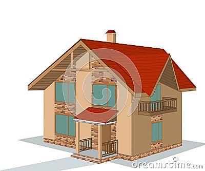 Brick house, illustration