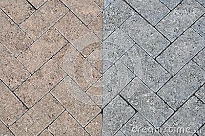 Brick pattern road