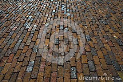 Brick pavement texture