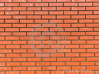 Brick red in a wall laying