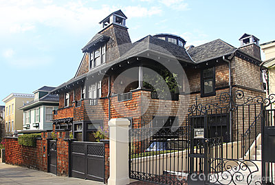 Brick residential home