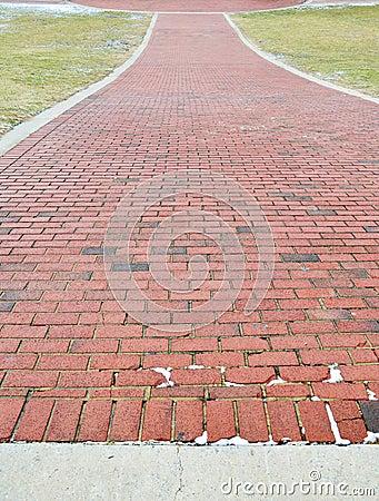 Brick Sidewalk Detail
