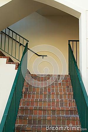 Brick stairway in florida