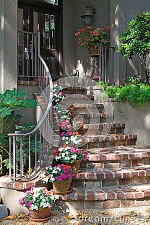 Free Brick Stairway To Door Stock Image - 5101431