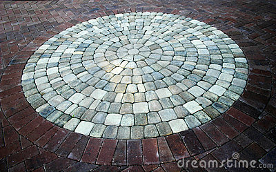 Brick and Stone circular walkway