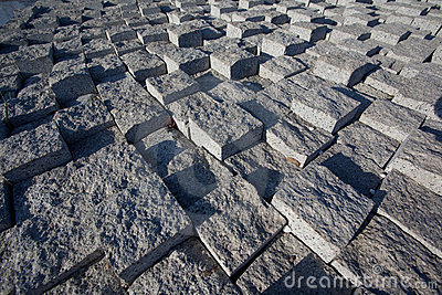 Brick stone street