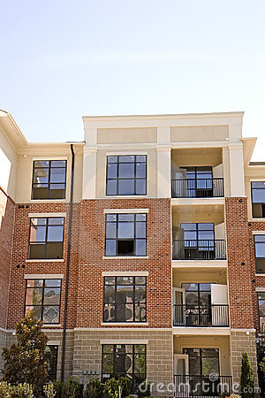Brick And Stucco Apartments Stock Photo - Image: 5046360 Brick Apartment Building