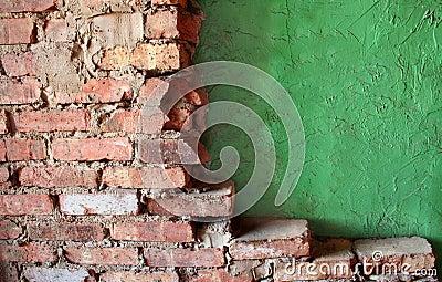 Brick and Stucco Walls