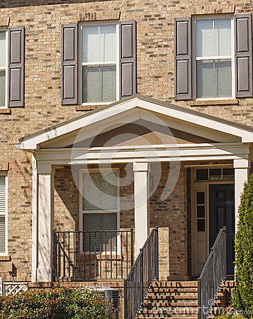 Brick Townhouse with Shutters