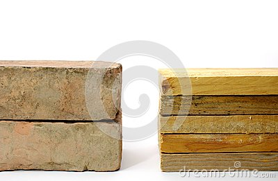 Brick versus wood