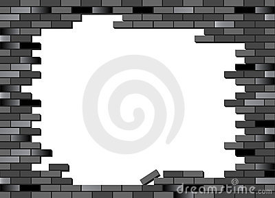 Brick wall black