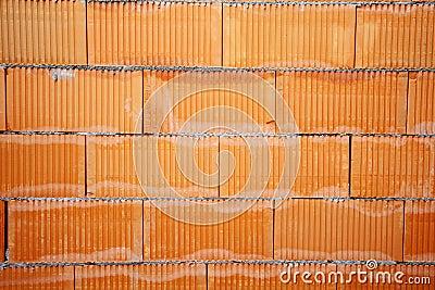Brick wall of bricks