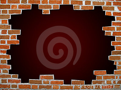 Brick wall with clipping path