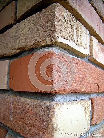 Brick wall corner