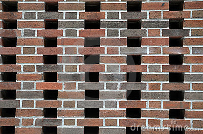 Brick Wall with Empty Spaces