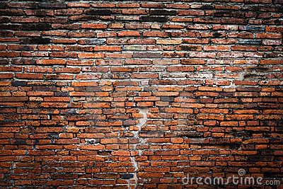 Brick wall fragment background