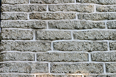 Brick Wall with Gray Bricks for Background